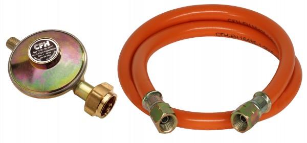 Druckregler 50 Mbar mit 80cm Gasschlauch DG 452